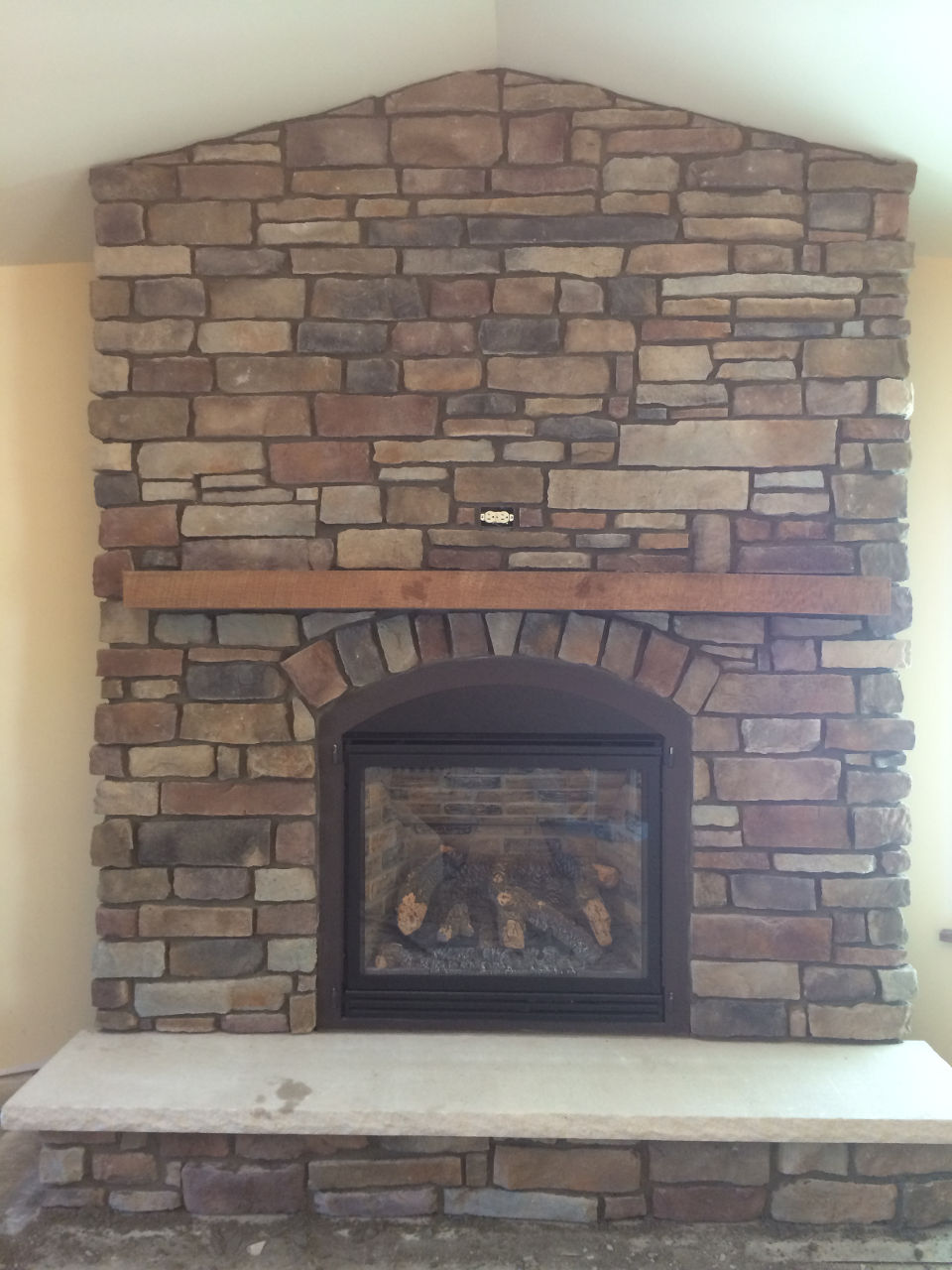 facade stone youtube install veneers brick over terrific com blackbirdphotographydesign diy old fireplace