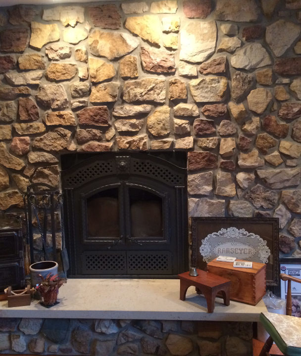 stone wall with fireplace tuscarawas construction ltd